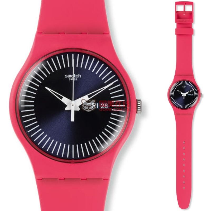 品斯沃琪Swatch表情2015日晖纹撞色男女表柔伟光东华手表包高帝君图片