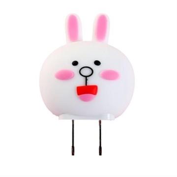 可爱创意卡通动物头充电器usb电源转换插头(可妮兔)