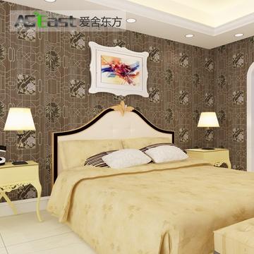 爱舍东方 现代中式古典窗纹风景环保pvc壁纸 竹子牡丹客厅卧室书房