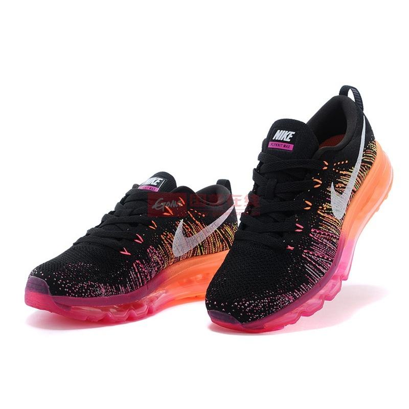 耐克nike flyknit air max彩虹编织气垫情侣鞋跑步鞋图片