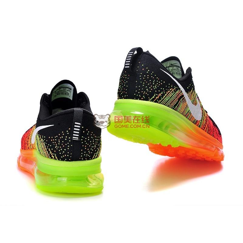 耐克nike flyknit air max彩虹编织气垫跑步鞋图片
