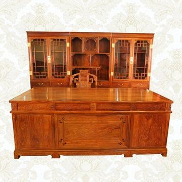 2米红木书桌实木办公桌大班台老板桌