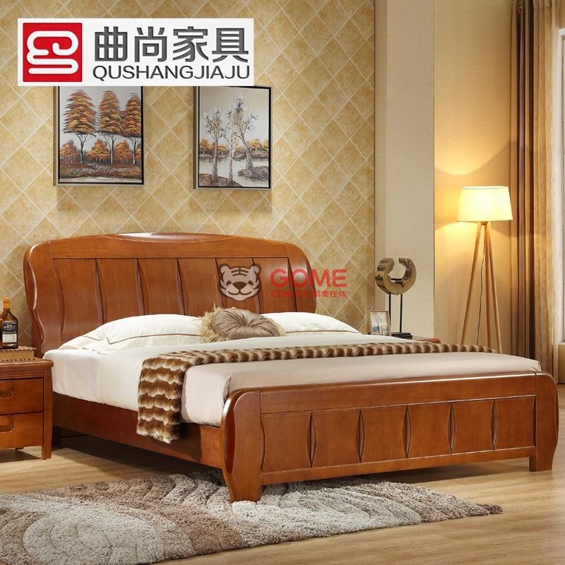 8米中式实木床可定制高箱储物-国美团购
