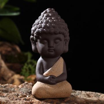 创意汽车摆件 可爱如来佛弥勒佛像摆设 陶瓷车内用品装饰品(款式3)