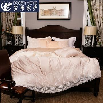 梦巢轻奢欧式纯棉四件套五星酒店宾馆床上用品全棉