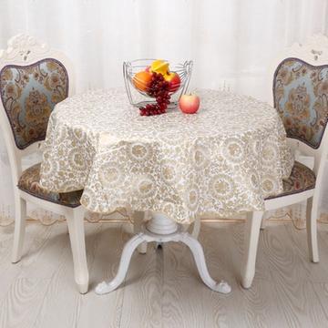 欧式pvc塑料餐桌布防水防油防烫桌垫茶几布圆桌田园