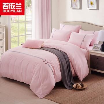 欧式纯色天丝贴布绣四件套床上用品套件1