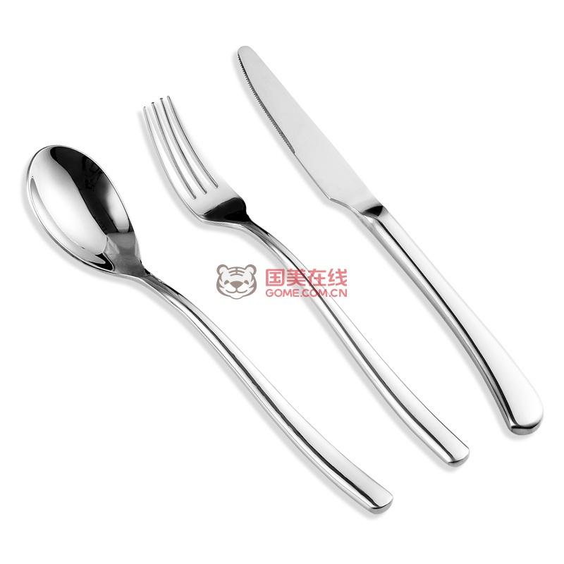 拜格西餐刀叉勺套餐具套装欧式汤勺西餐刀西餐叉汤勺牛排刀叉德国品质