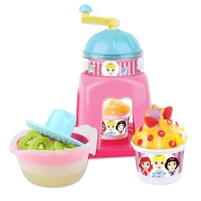 迪士尼disney儿童diy沙冰机2118玩具刨冰机可爱米奇白雪公主冰淇淋机