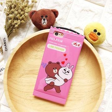 亿和源iphone6可爱糖果小熊苹果6s手机壳plus萌手机套卡通全包(粉色