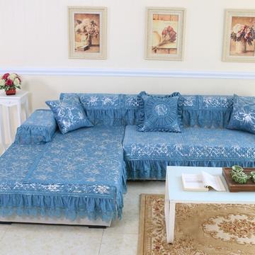 雪尼尔欧式沙发垫防滑加厚靠背巾抱枕沙发坐垫厂家
