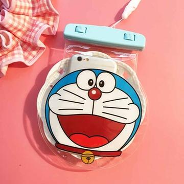亿和源iphone叮当猫手机卡通防水袋苹果三星游泳保护套(大笑)
