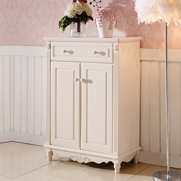 凯莎豪庭家具 韩式田园鞋柜欧式鞋橱白色烤漆卧室储物