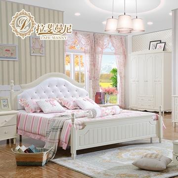 韩式田园床欧式床公主床1.5米高箱床1