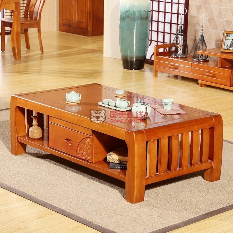中式客厅茶几组合团购价格-国美