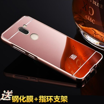 小米5splus手机壳 金属边框后盖 小米5s plus保护套 镜面背板手机套 5