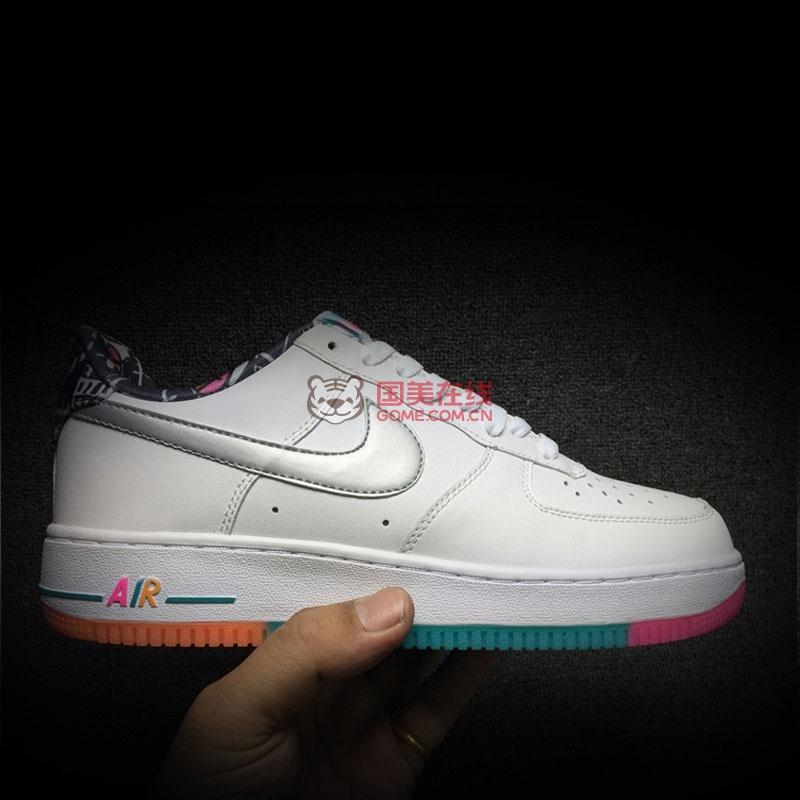 耐克nikeairforce1空军一号彩虹涂鸦男鞋时尚板鞋596728100