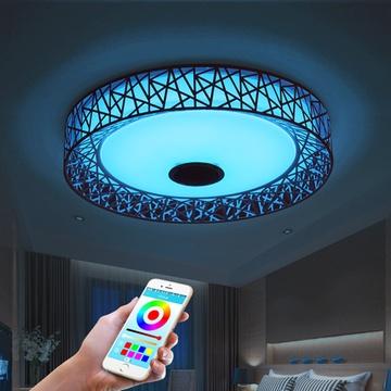 智能音乐吸顶灯卧室led灯客厅儿童灯手机蓝牙app无极调光变色(手机