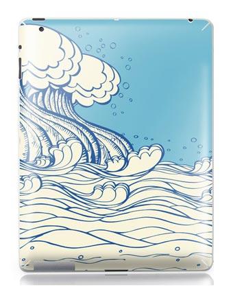 skinat海浪花ipad23g/ipad34g背面保护彩贴