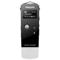 飞利浦VTR5500/93 Voice Tracer数码录音笔(钢琴黑)(4G)(一键录音,数字降噪,声控录音,音乐播放)