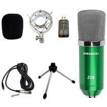 双诺 Z08专业电容有线麦克风(绿色)高效过滤海绵 低输出阻抗 心型指向性 适用于:网络K歌、个人电脑录音及乐器录音等场合使用~~