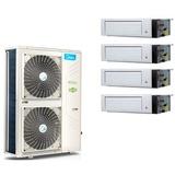 美的(Midea) MDVH-V120W/N1-610P(E1)5P冷暖带电辅多联机中央空调一拖四
