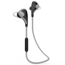 纽曼蓝牙耳机L03 浅灰 运动无线蓝牙耳机 头戴式迷你双入耳 通用型立体声
